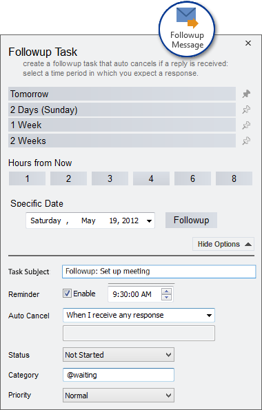 Automated Outlook Reply Reminder
