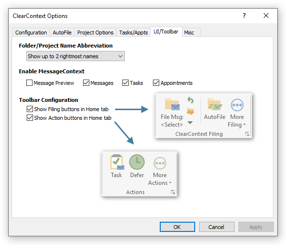 IMS User Guide: Toolbar Management