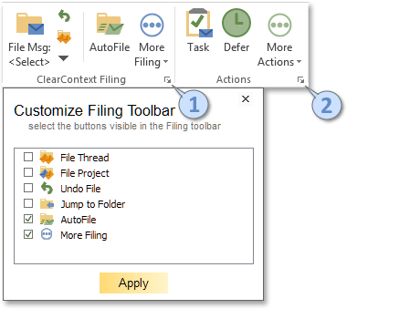 ClearContext Outlook 2010 Toolbar